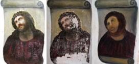 مرمت نقاشی تصویر تاجگذاری مسیح