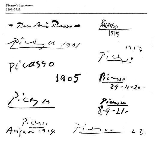 pablo picaso signature