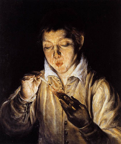 El Greco   A Boy Blowing on an Ember to Light a Candle Soplón   WGA10422