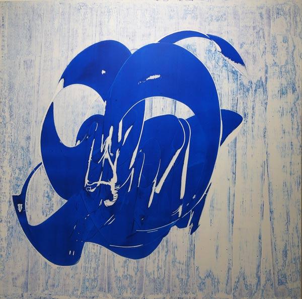 بهرام حنیفی و دوره آبی خط نقاشیهایش
