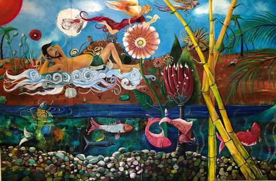 نقاشی شاهین کیمیاگر گالری گلستان