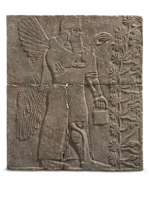 CH An assyrian gypsum relief