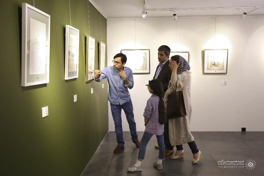 کامبیز درم بخش و سهیل حسینی گالری دیلمان