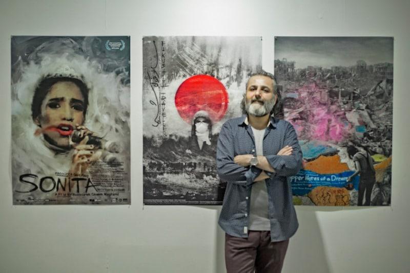 فیوویژن علی باقری نمایشگاه پوسترهای سینمایی در خانه هنرمندان