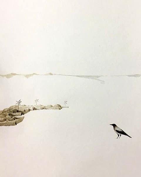 نقد نمایشگاه آبرنگ پارسا پاینده