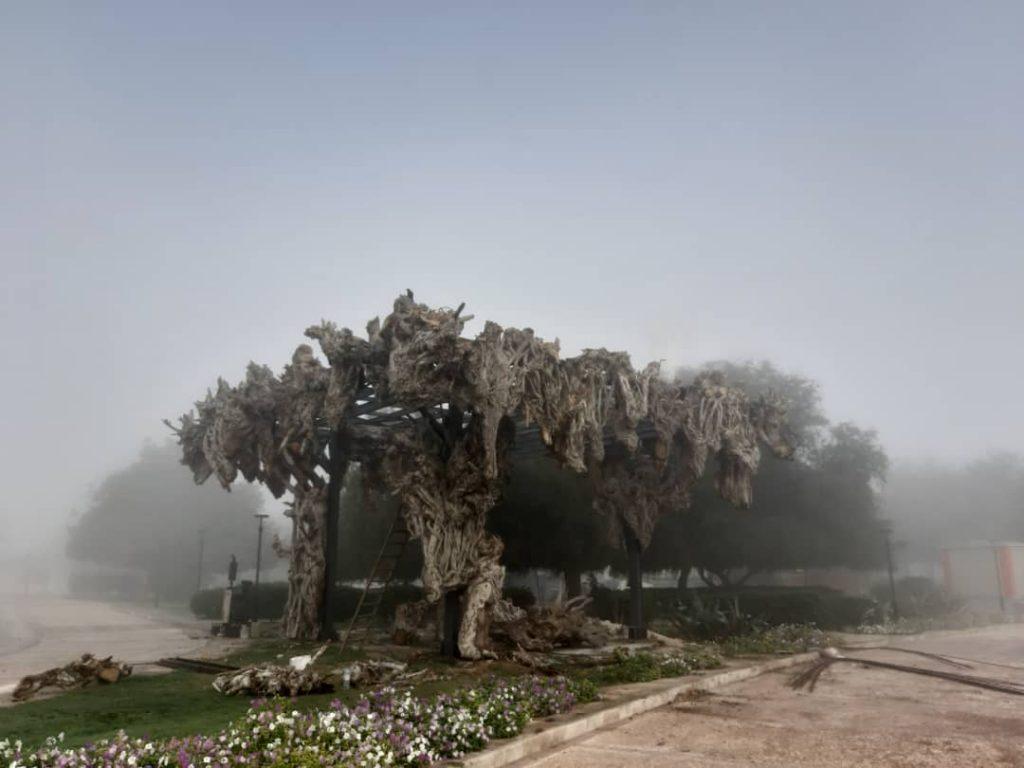 چیدمان محیطی کریم الهخانی در جزیرهی کیش